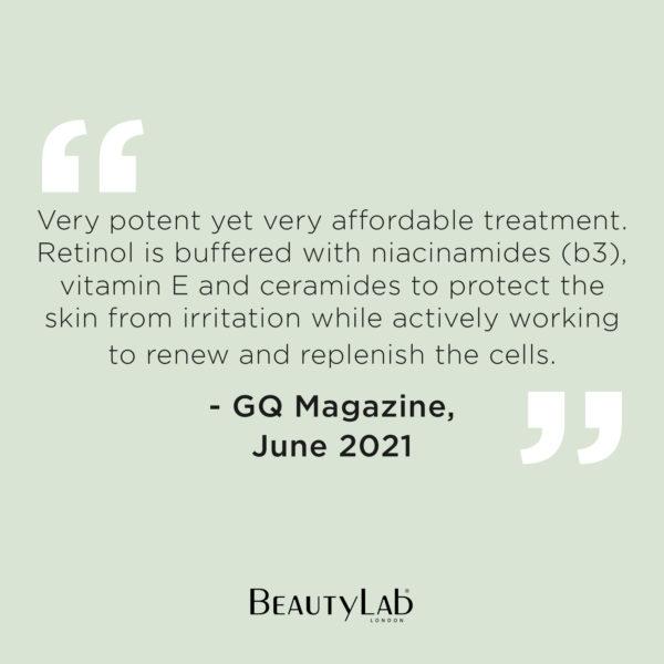BeautyLab Retinol Serum GQ Quote