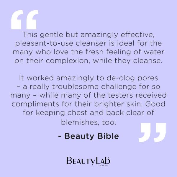 Beauty Bible quote on BeautyLab Glycowash