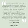 GC Magazine quote on BeautyLab Glycowash