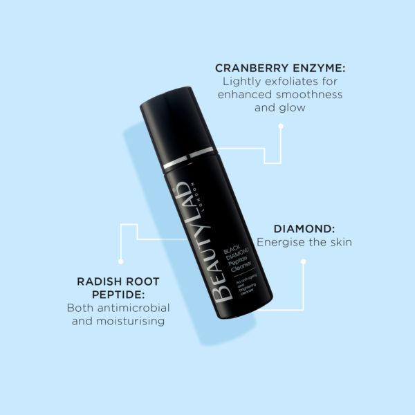 BeautyLab Black Diamond Peptide Cleanser product benefits